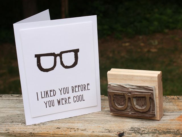 Hipster glasses carved by Lauri Ingram