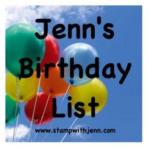 Birthday list email