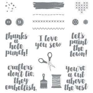 love you sew stamp set