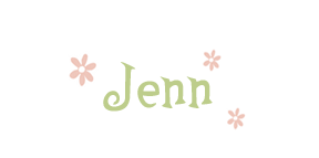 Jenn Tnline pink and green signature