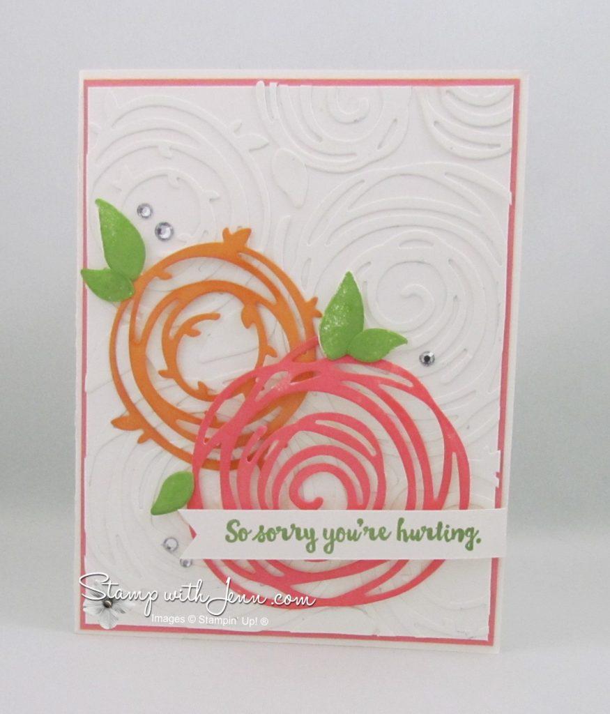 Swirly Bird card