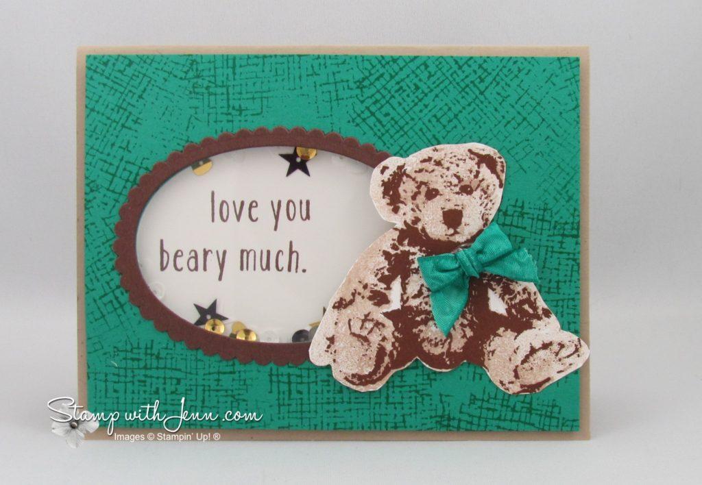 baby bear shaker card