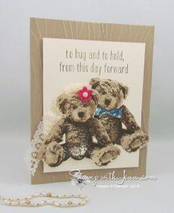 baby bear wedding card