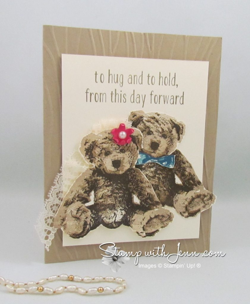 baby bear wedding card