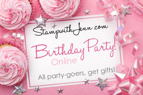 Pink party background with space for copy