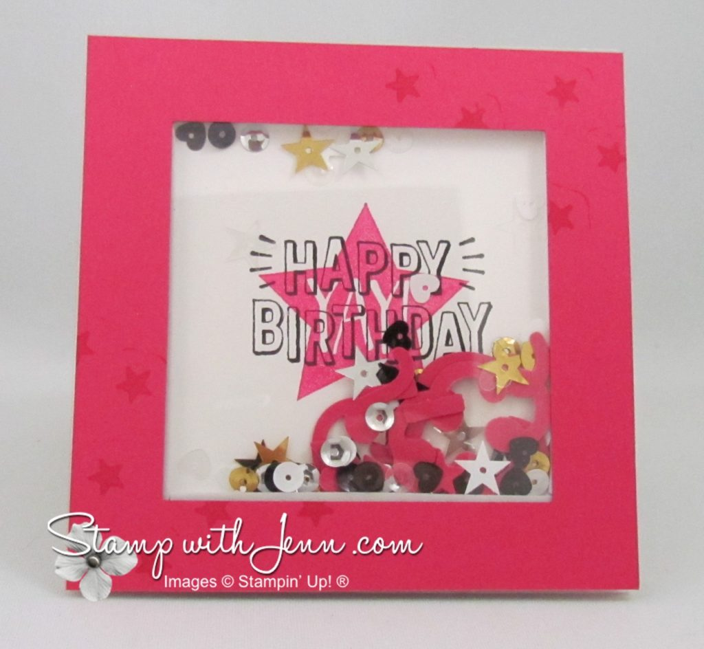 shaker card square birthday
