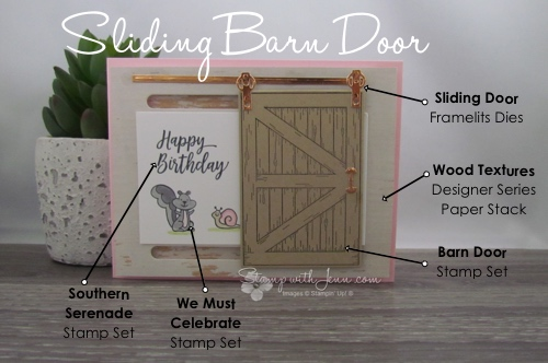 Sliding Barn Door From Stampin Up Stamp With Jenn