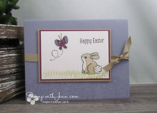 Quick Easy Easter Card Garden Girl Stamp Set Stamp With Jenn