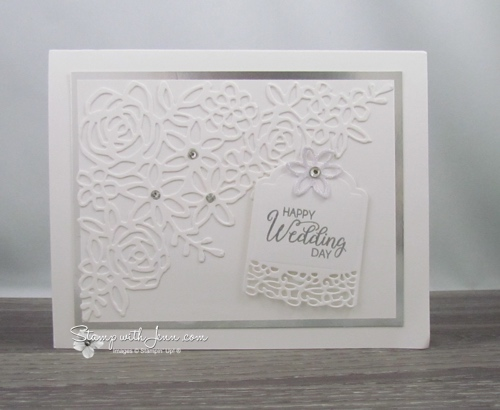 White Wedding Card Stamp With Jenn