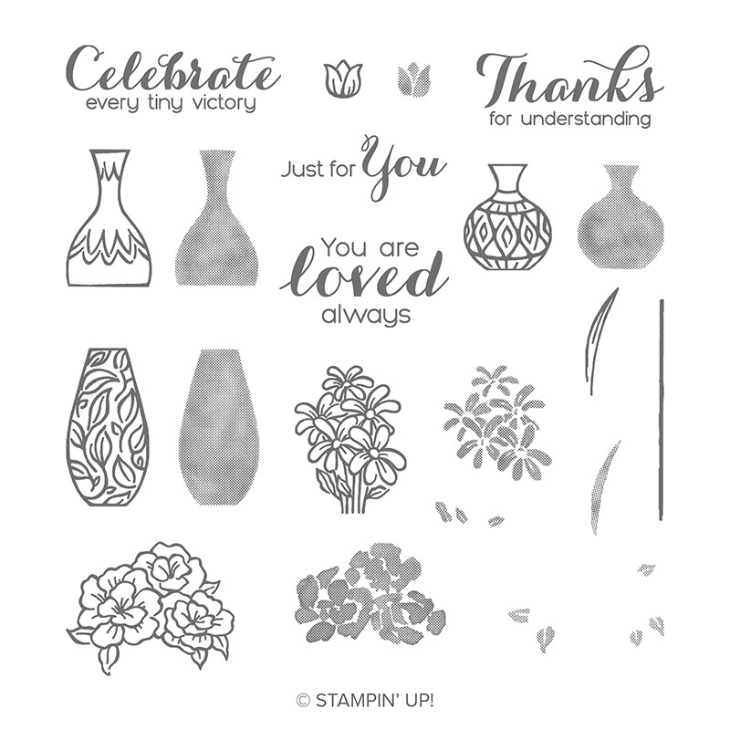 Vibrant Vases stamp set