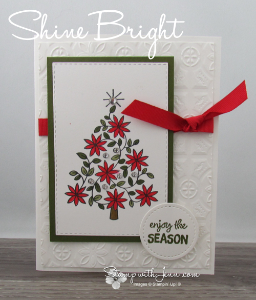 Shine bright christmas tree card