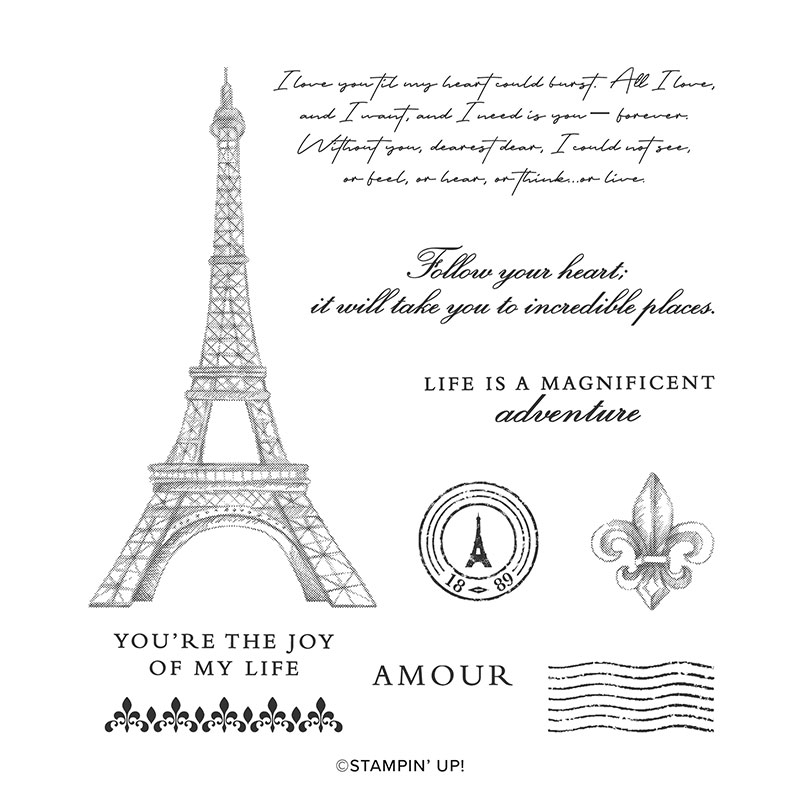Parisian beauty stamp set
