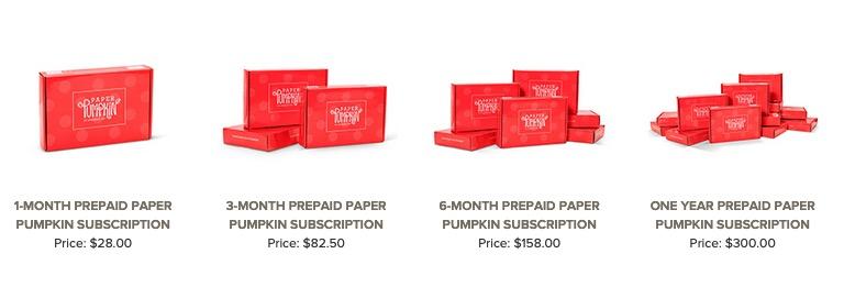 prepaid paper pumpkin kits