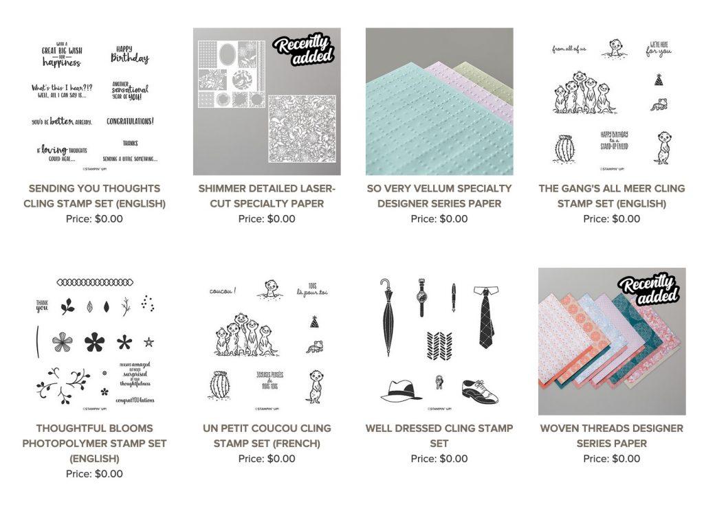$60 Sale-a-bration items