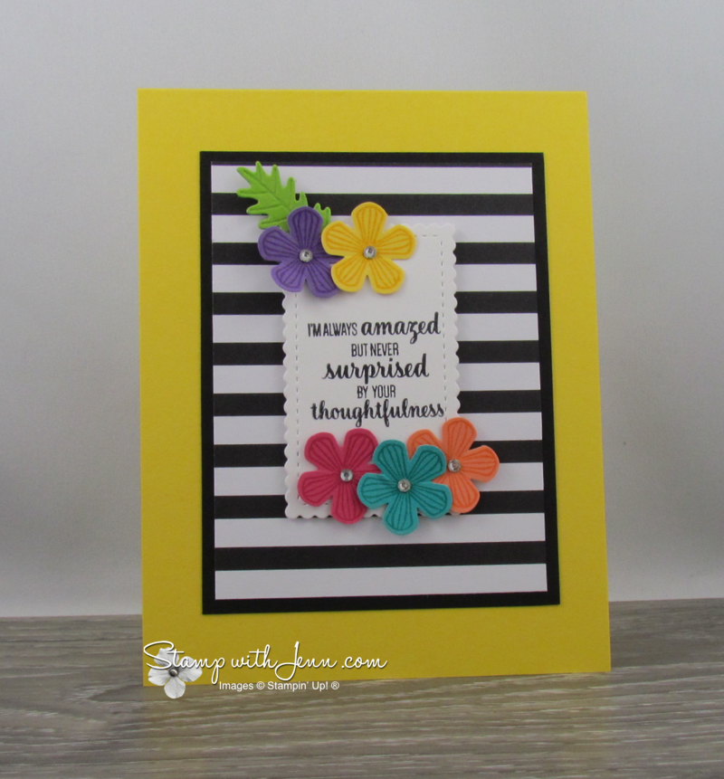Thoughtful Blooms and Small Blooms Punch Card