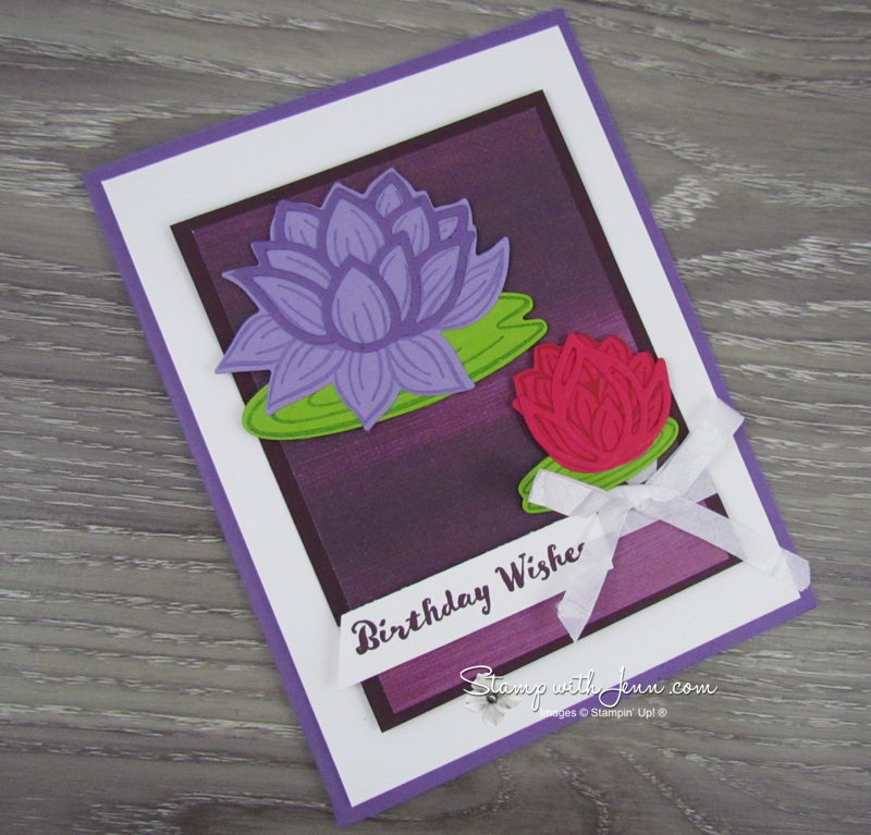 Lovely Lily Pad stamp set & Lily Pad dies