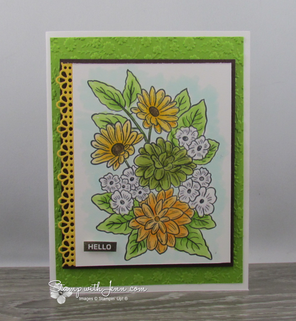 Ornate Style Stamp Set in Green