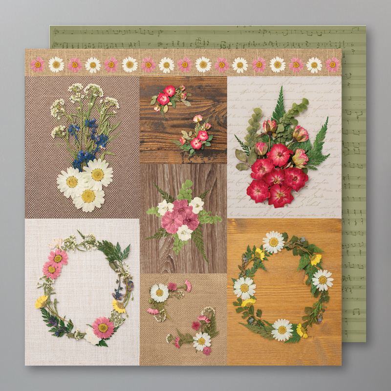 Pressed petals card fronts