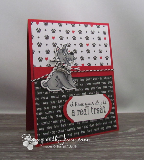 Dog Card with Playful Pets Designer Series Paper