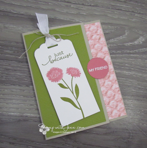 field of flowers tag card