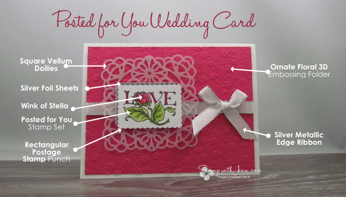 wedding card using Posted for you stamp set