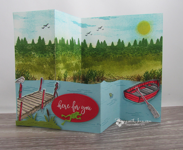 z fold card with by the dock stamp set