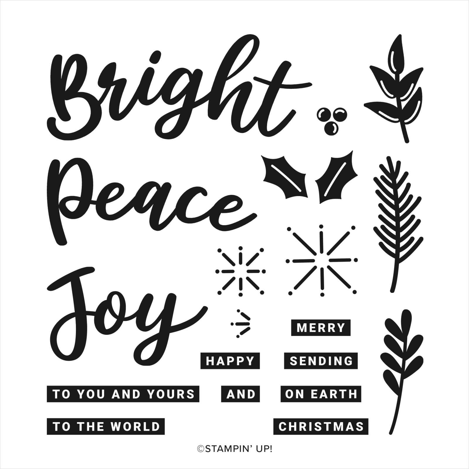 Peace & Joy Stamp Set