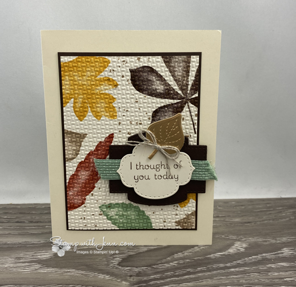 Love of Leaves Fall thinking of you card
