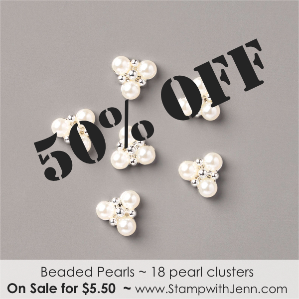 beaded pearls on sale