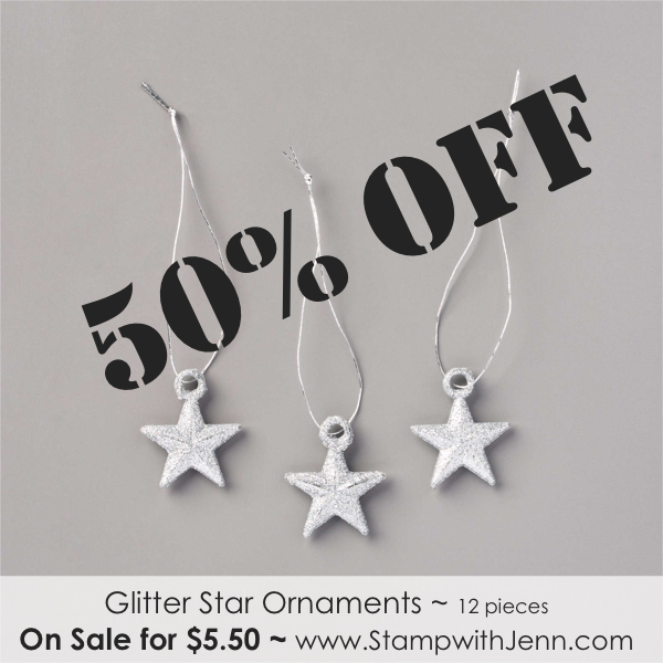 glitter star ornmaents on sale