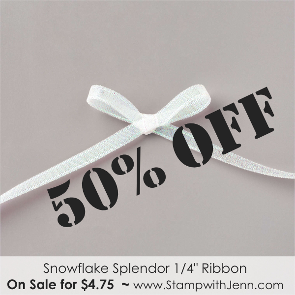 snowflake ribbon on sale