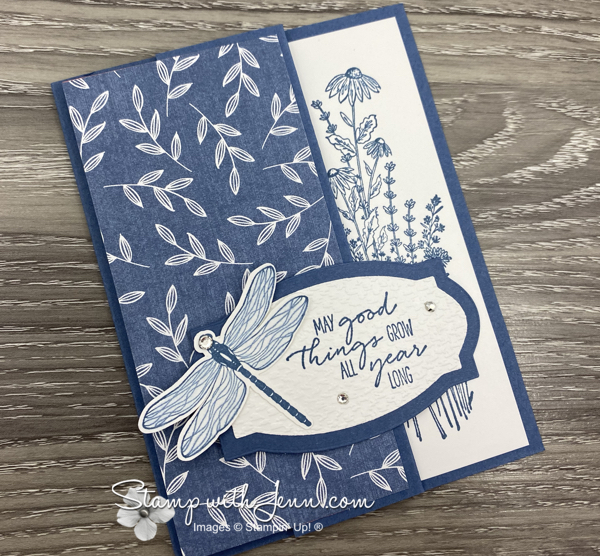 Dragonfly Garden Stampin' Up! Fun Fold