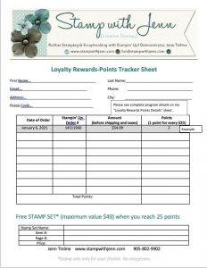 STAMP WITH JENN LOYALTY REWARDS TRACKER SHEET
