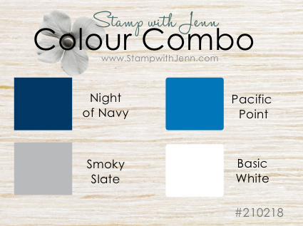 Colour Combination #210218 Blues for Masculine card