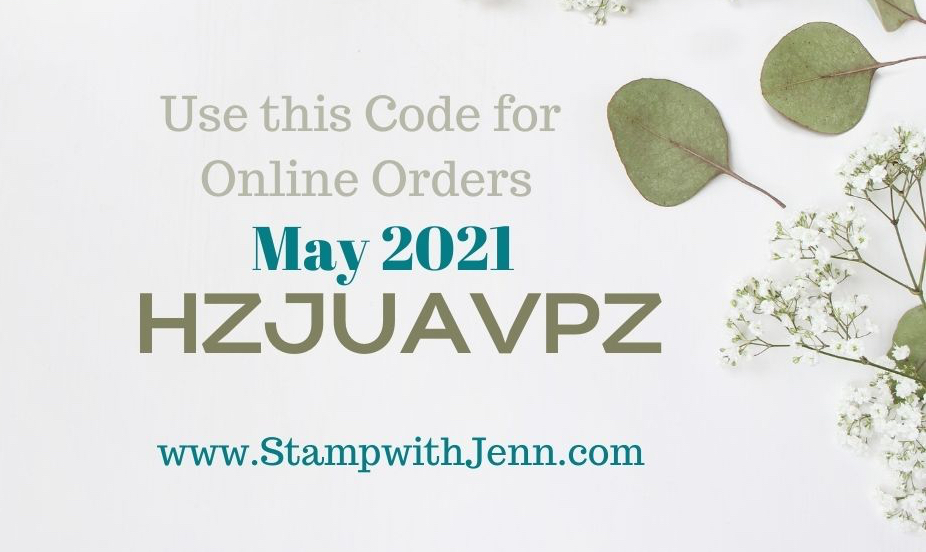 Online STampin' Up! Order Code May 2021