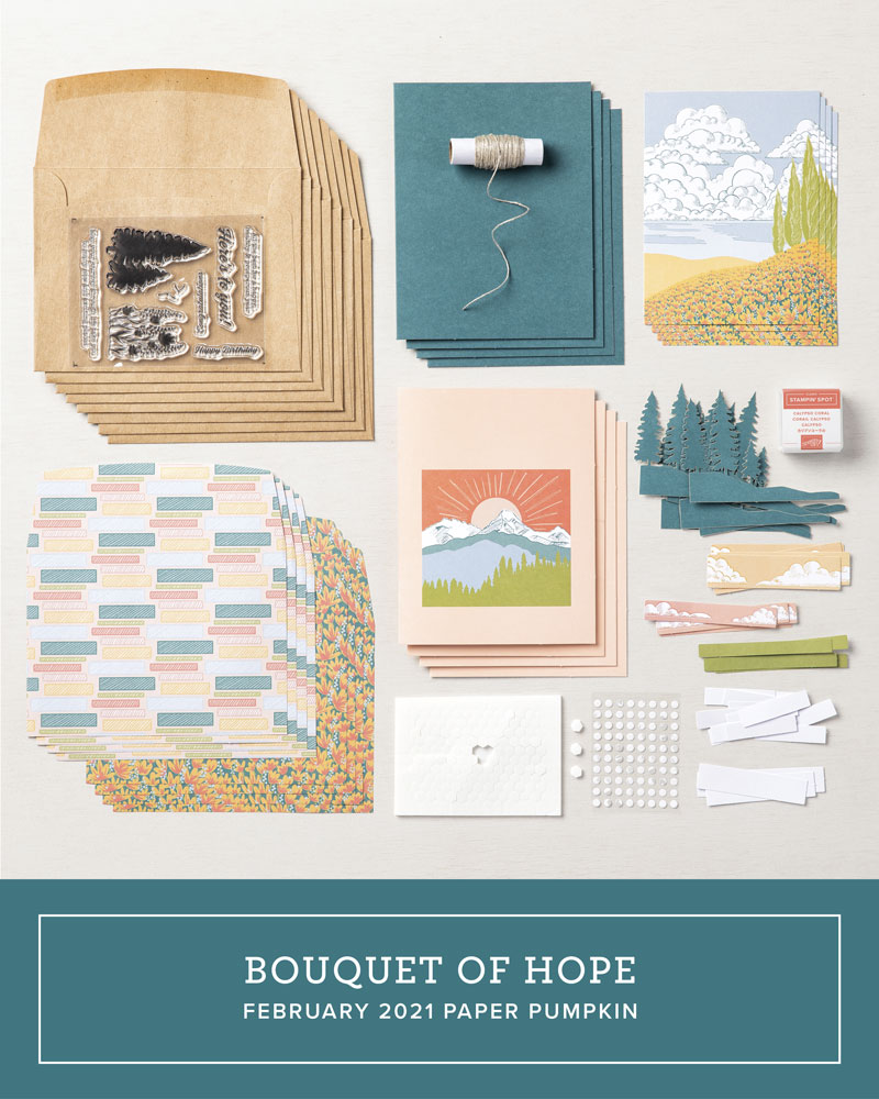 March 2021 Stampin' Up! Paper Pumpkin kit