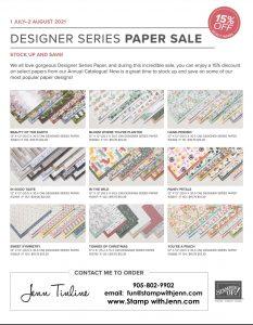 Designer Series Paper Sale -July 2021