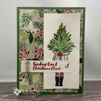 delivering cheer christmas card stampin up