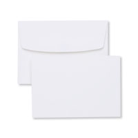 White note cards and envelopes