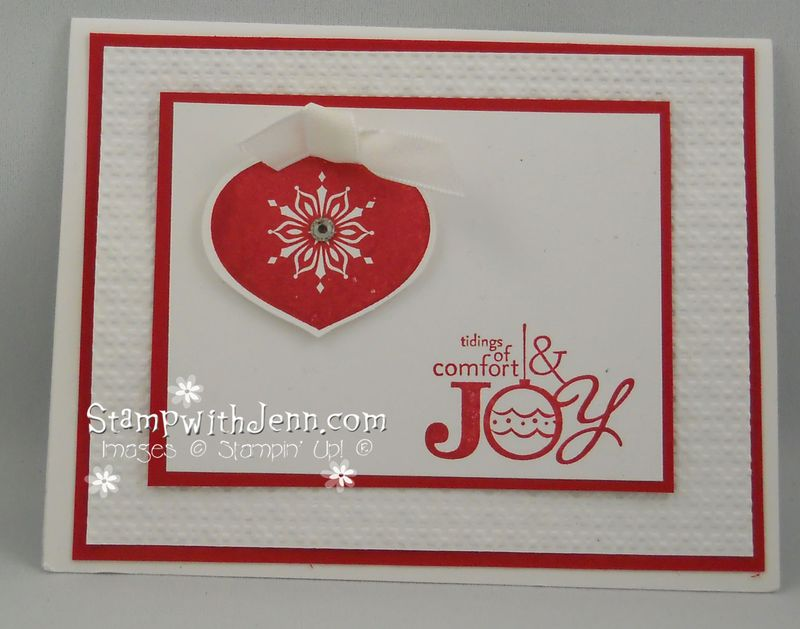 Simple Christmas Card | Stamp with Jenn