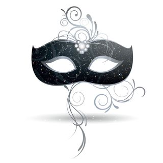 Mask for mystery hostess