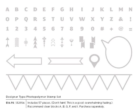 Designer type stamp set