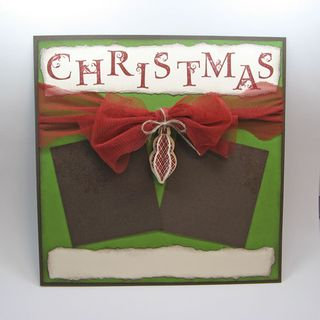 Scrapbook page christmas