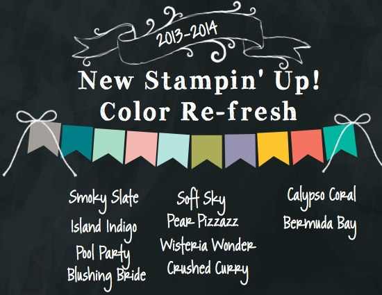 Stampin' up colour refresh