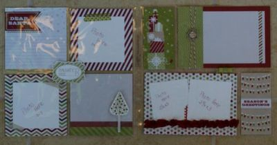 8x8 scrapbook page