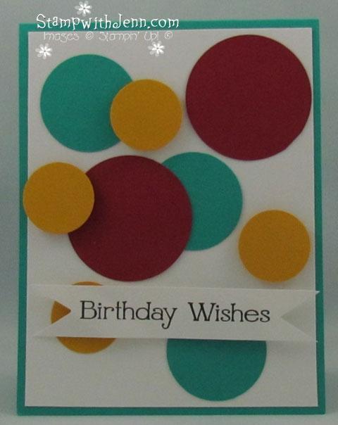 Simply Saturdays Easy To Make Birthday Card Stamp With Jenn
