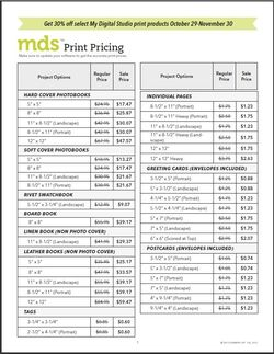 Mds printing list for sale