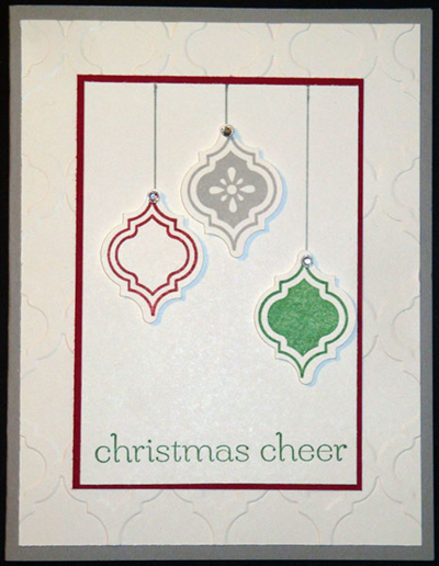 Card christmas mosaic