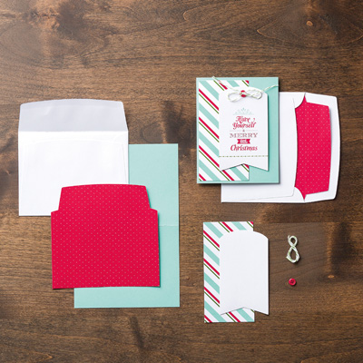 Merry little christmas card kit
