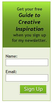 Newsletter sign up box graphic